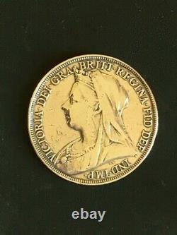 1895 Silver Crown Coin 19th Century Victorian Era Bullion Grade LIX
