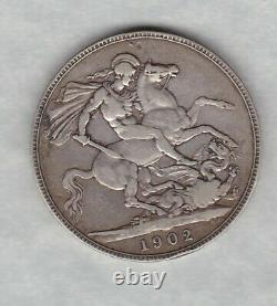 1902 Edward VII Silver Crown In Good Fine Or Slightly Better Condition