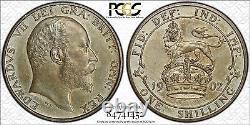 1902 Great Britain Edward VII 9-Piece Matte Silver Proof Set PCGS PR62 PR63 PR64