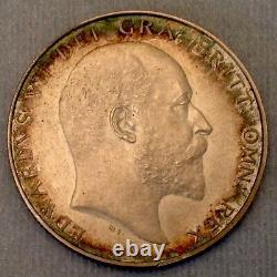 - 1902 Great Britain Edward VII Half Crown Matte Proof