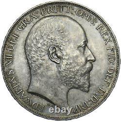 1902 Matt Proof Crown Edward VII British Silver Coin Superb