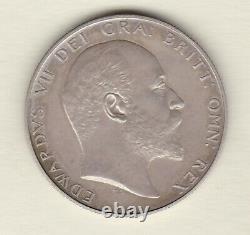 1902 Matt Proof Edward VII Silver Half Crown In Near Mint Condition