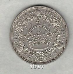 1928 George V Silver Wreath Crown In Good Very Fine Or Better Condition
