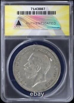 1928 Great Britain Crown ANACS AU 50 Details About Uncirculated George V Silver