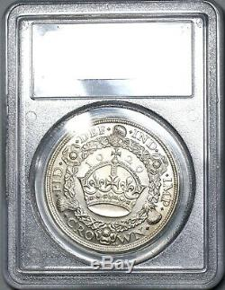 1929 PCGS MS 63 George V Crown Great Britain Silver Coin 494 Minted (17122105D)