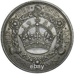 1933 Wreath Crown George V British Silver Coin V Nice