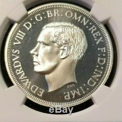 1937 Dated Great Britain Silver Crown Fc 20e Edward VIII Ngc Pf 68 Cameo Scarce