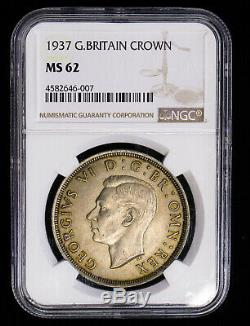 1937 Great Britain Crown KM# 857 NGC MS-62