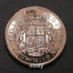 - 1937 Great Britain One Crown Cameo Proof George VI Sale Priced