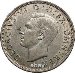 1943 United Kingdom of Great Britain GEORGE VI Half Crown Silver Coin i56132