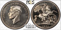 1951 Great Britain Crown Five 5 Shillings PCGS PL66 TOP POP RARITY