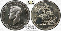1951 Great Britain Five Shillings Crown Pcgs Pl64 Great Luster