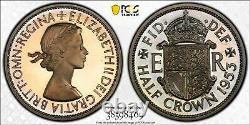 1953 PROOF Half Crown Great Britain Eliz II 1/2 Crown PCGS PR66DCAM STUNNING