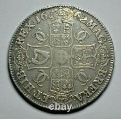 Charles II crown 1662 rose below bust, edge undated Sale of Dunkirk silver