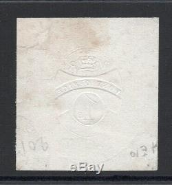 GB 1839 Charles Whiting 1d Essay In Blue with VR and Crown on Wove Paper
