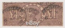 GB QV 1884 £1 Brown Lilac Used SG# 185 Wmk 3 crowns