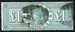 GB Queen Victoria 1891 One Pound Green Wmk Three Crowns SG 212 (Spec K17) VFU