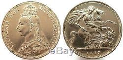GRAN BRETAÑA Great Britain 1887 crown PROOF