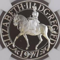 GREAT BRITAIN. 25 New Pence, 1977, Silver NGC PF69 Top Pop Jubilee Crown