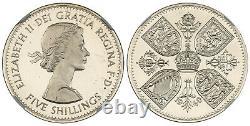 GREAT BRITAIN Elizabeth II 1960 Cu-Ni Crown NGC PR66 Ultra Cameo VIP issue