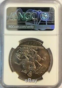 GREAT BRITAIN George IIII Silver Crown 1821 Secundo NGC UNC Details (CLN)