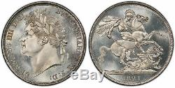 GREAT BRITAIN. George IV 1821 AR Crown. PCGS MS65 SECUNDO SCBC-3805