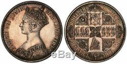 GREAT BRITAIN. Victoria 1847 AR Gothic Crown PCGS PR61 S-3883 ESC-2571 Dav-106