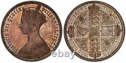 GREAT BRITAIN Victoria 1847 AR Gothic Crown. PCGS PR64 S-3883 ESC-2571