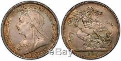 GREAT BRITAIN Victoria 1893-LVI AR Crown. PCGS MS63 SCBC-3937
