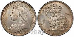 GREAT BRITAIN Victoria 1897-LX AR Crown. PCGS MS64. SCBC-3937 ESC 312