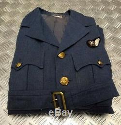 Genuine British RAF No1 WW2 Pattern Pilot Officer Dress Jacket Kings Crown 1950s