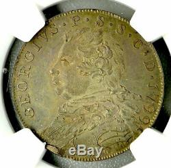 George III Great Britain 1/2 Crown 1799 Fullerton, Rainbowtone NGC MS65 Silver
