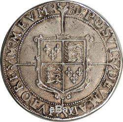Great Britain 1601 Elizabeth I Silver Crown good EF