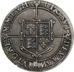 Great Britain 1601Elizabeth I Silver Crown PCGS XF Great Portrait