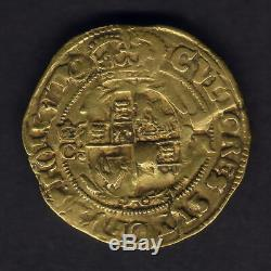 Great Britain. (1641-43) Charles 1 Gold Crown. MM- Triangle in Circle. Fine+