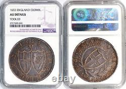 Great Britain 1653 Commonwealth Crown NGC AU ABSOLUTELY GORGEOUS PIECE