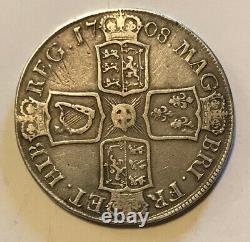 Great Britain 1708 Large Silver Anne Crown Nice