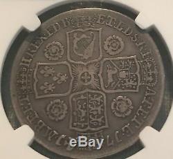 Great Britain 1741 George II half crown NGC VF30
