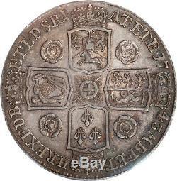 Great Britain 1743 George II Silver Crown PCGS AU-50