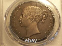 Great Britain, 1847 Victoria Crown. PCGS XF 40. 141,000 Mintage