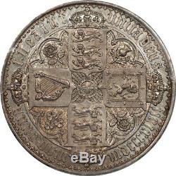 Great Britain 1847 Victoria Proof Gothic Silver Crown PCGS PR-58 UNDERGRADED