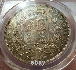 Great Britain 1847 Victoria Young Head Crown PCGS AU50