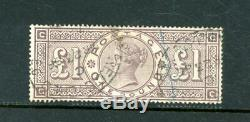 Great Britain 1884 £1 Brown Lilac (SG 185) wmk Crowns fine-used (D3236)