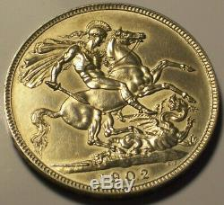 Great Britain, 1902 Edward VII Crown. 256,000 Mintage