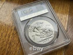 Great Britain 1902 Edward VII Matte Proof Silver Crown PCGS PR63 One Year Type