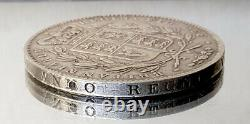Great Britain Crown 1845, queen Victoria silver