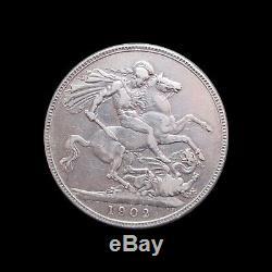 Great Britain Crown Edward VII 1902 Silver Km 803 #882#