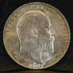 Great Britain Crown Edward VII 1902 Silver UNC