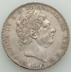 Great Britain George III Crown 1819-LX XF KM675, S-3787