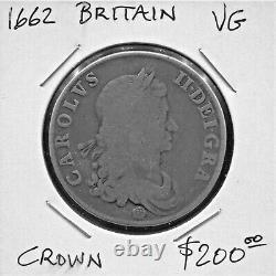 Great Britain Historical Toned Charles II Silver Crown, 1662, Km# 417